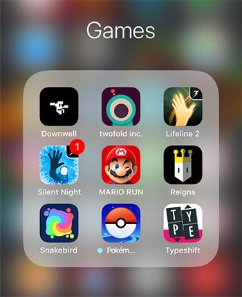 Screenshot iPhone met een fractie van mijn backlog